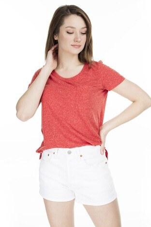 Vero Moda Vmkanyadiana Bayan T Shirt 10227923 KIRMIZI