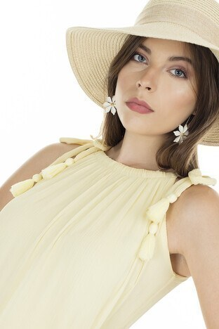 Vero Moda Vmpenelope Bayan Elbise 10230611 SARI