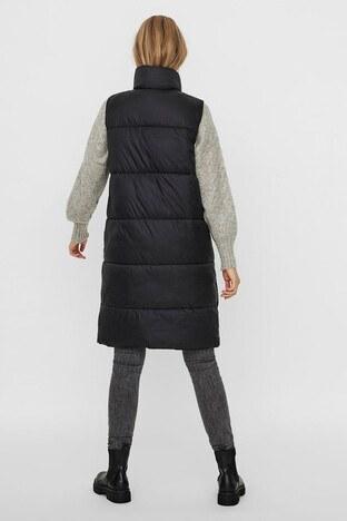 Vero Moda Vmuppsala Regular Fit Uzun Şişme Bayan Yelek 10236448 SİYAH