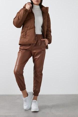 Vero Moda Vmupsala Regular Fit Kapüşonlu Şişme Bayan Mont 10232606 KAHVE